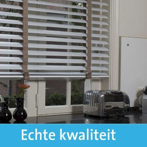 houten jaloezie 50mm | wehkamp